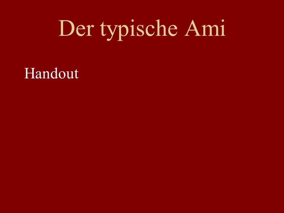 Der typische Ami Handout