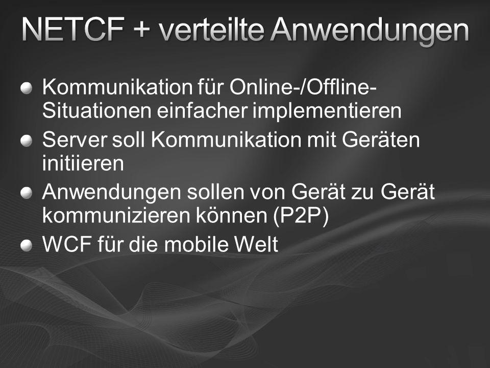 Kommunikation für Online-/Offline- Situationen einfacher implementieren Server soll Kommunikation mit Geräten initiieren Anwendungen sollen von Gerät