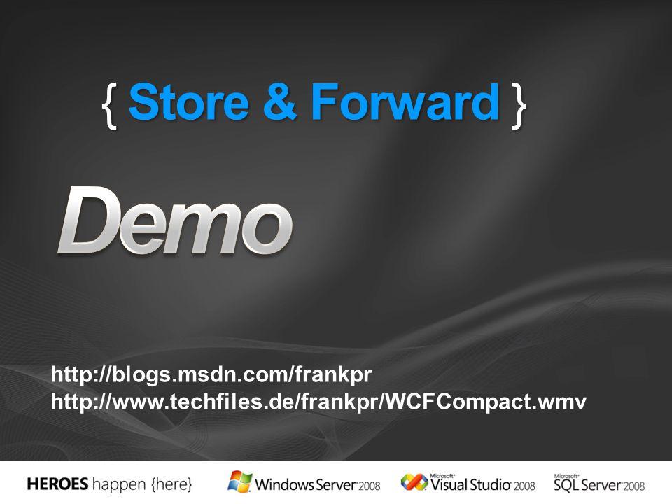 http://blogs.msdn.com/frankpr http://www.techfiles.de/frankpr/WCFCompact.wmv
