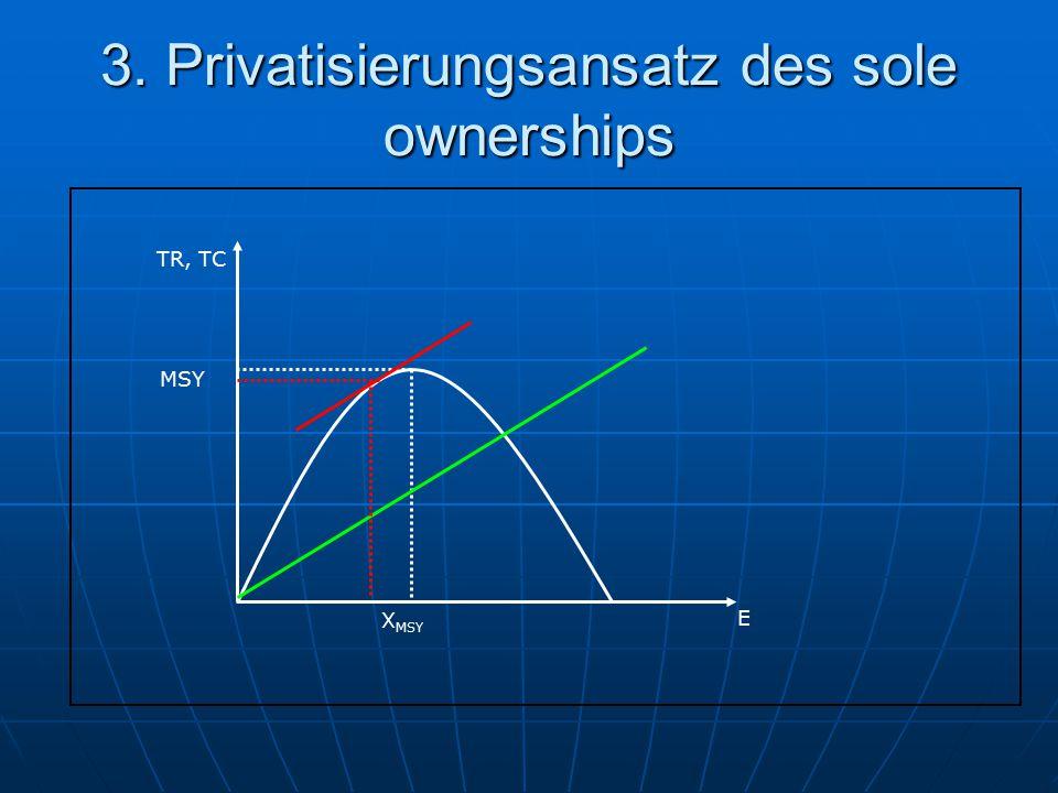 3. Privatisierungsansatz des sole ownerships TR, TC E X MSY MSY