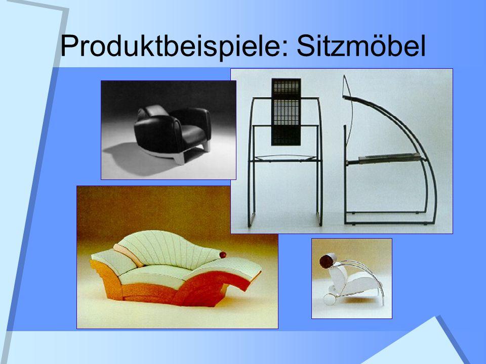 Produktbeispiele: Sitzmöbel