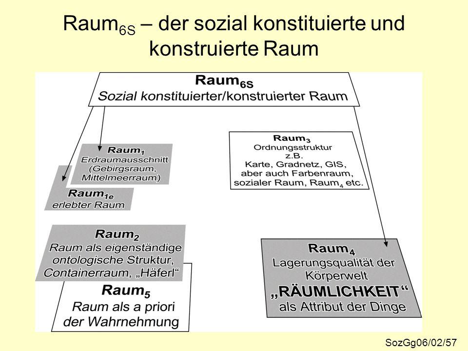 Raum 6S – der sozial konstituierte und konstruierte Raum SozGg06/02/57