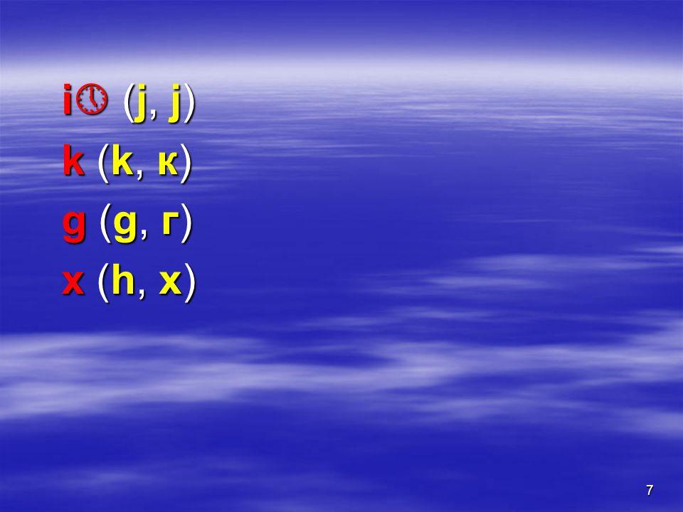 8  palatal ń (nj, њ) ĺ (lj, љ) ç (ć, ћ)  (đ, ђ) i  (j, ј)