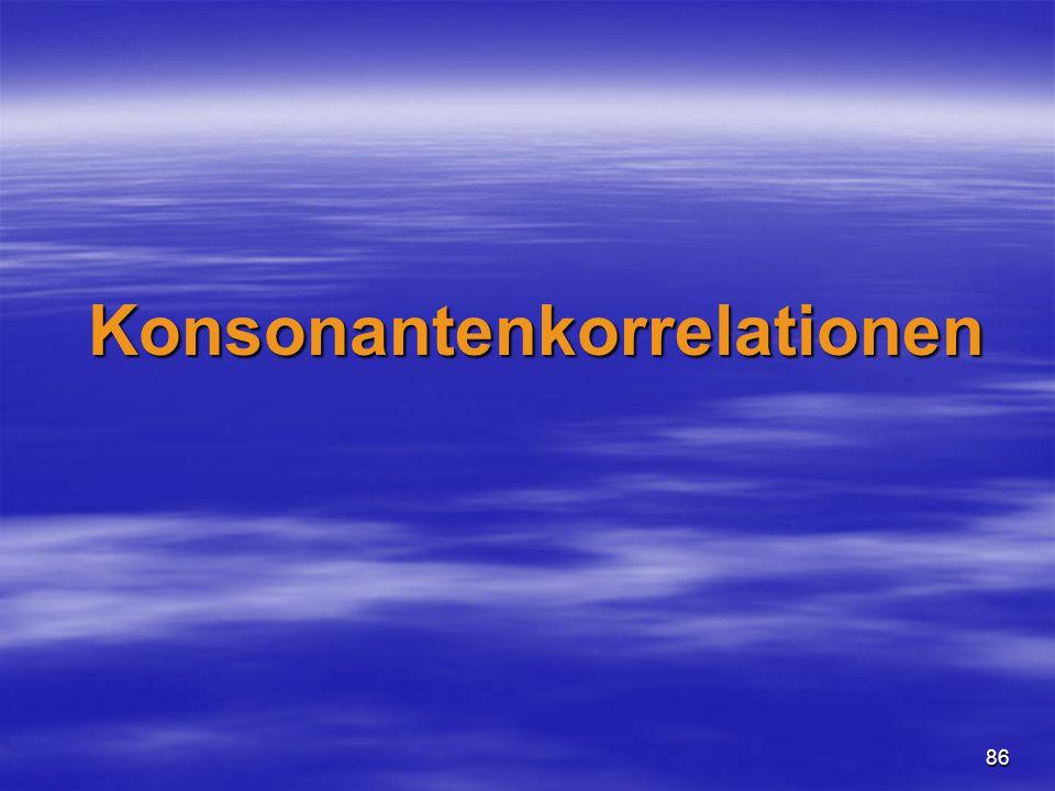86 Konsonantenkorrelationen