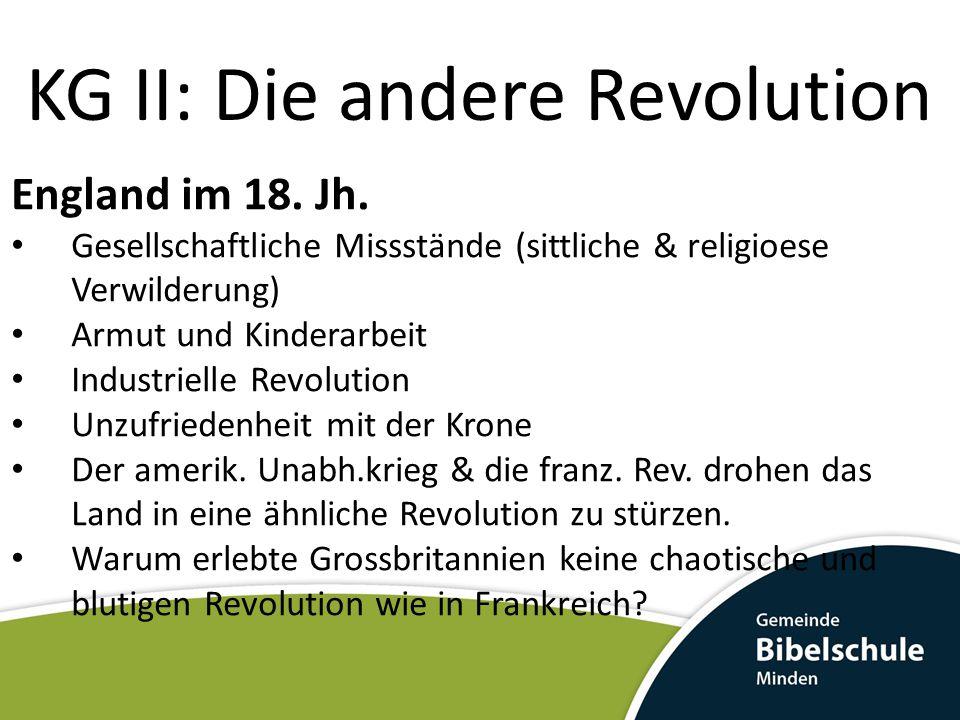 KG II: Die andere Revolution England im 18.Jh.