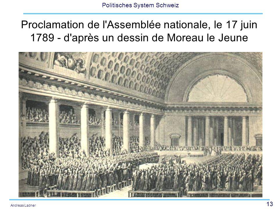 13 Politisches System Schweiz Andreas Ladner Proclamation de l'Assemblée nationale, le 17 juin 1789 - d'après un dessin de Moreau le Jeune