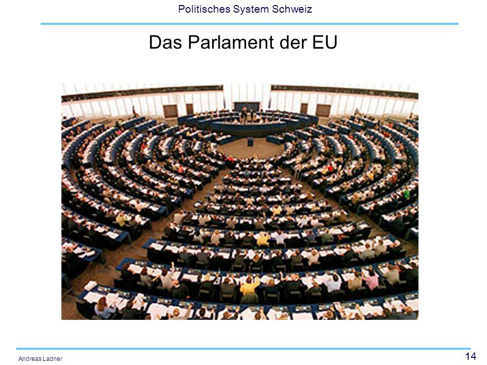 14 Politisches System Schweiz Andreas Ladner Das Parlament der EU