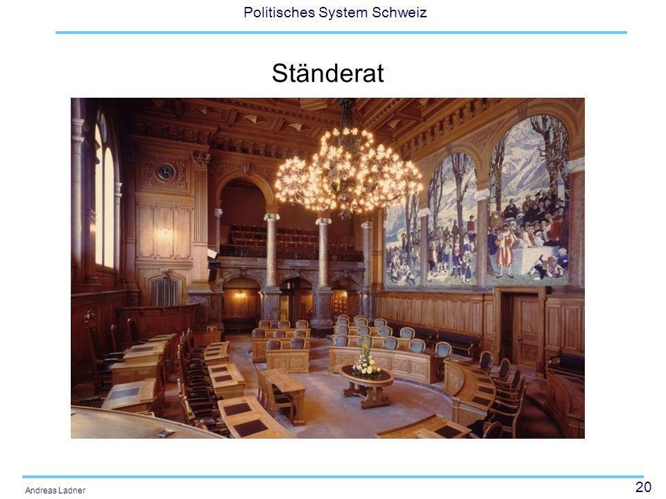 20 Politisches System Schweiz Andreas Ladner Ständerat
