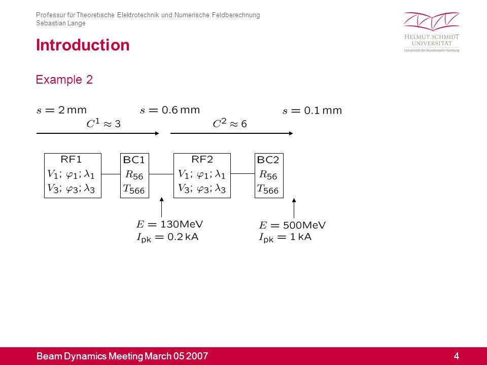 Beam Dynamics Meeting March 05 2007 15 Professur für Theoretische Elektrotechnik und Numerische Feldberechnung Sebastian Lange Result 1 - Without Cavity Wakes Time needed: 6.8 s