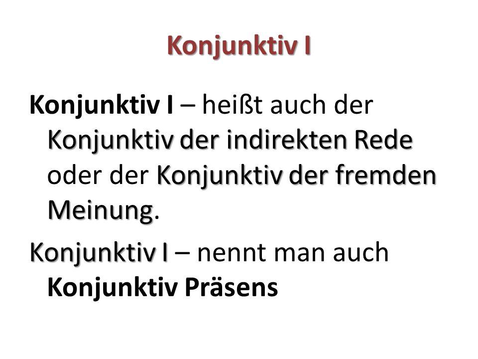 Beispiele – Konjunktiv I Gegenwart Es lebe der Jubilar.