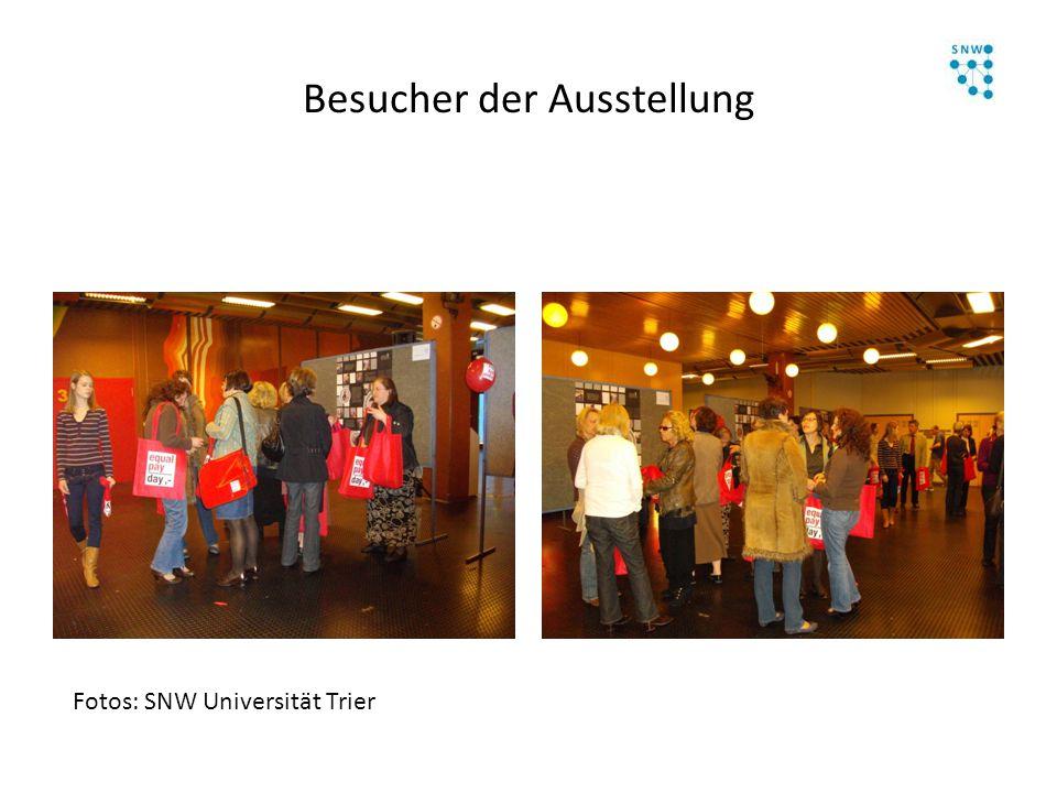 Besucher der Ausstellung Fotos: SNW Universität Trier
