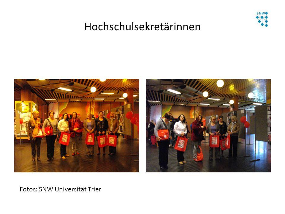 Hochschulsekretärinnen Fotos: SNW Universität Trier