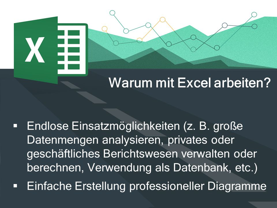  Endlose Einsatzmöglichkeiten (z. B. große Datenmengen analysieren, privates oder geschäftliches Berichtswesen verwalten oder berechnen, Verwendung a