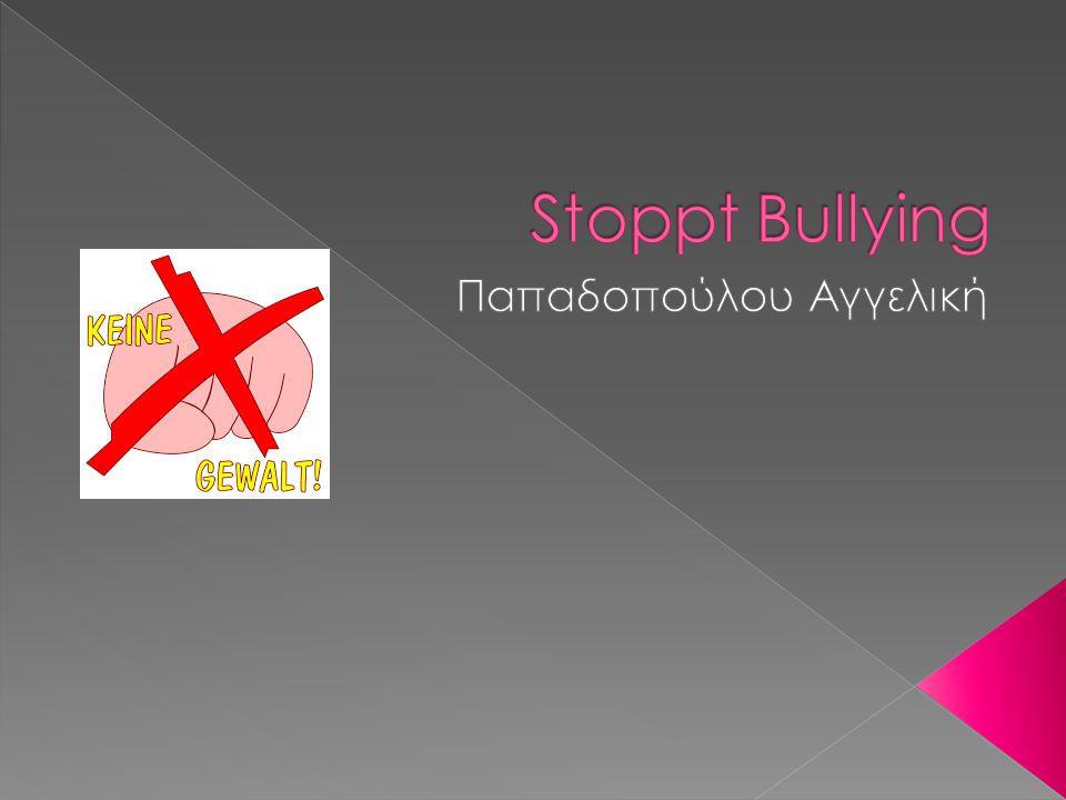 Bullying bedeutet, dass ein Schüler oder eine Gruppe von Schülern systematisch, wiederholt und über einen längeren Zeitraum hinweg den negativen Handlungen eines anderen Schülers oder einer Gruppe von Schülern ausgesetzt ist.
