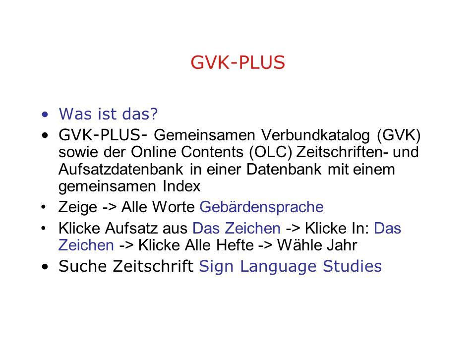 GVK-PLUS Was ist das.