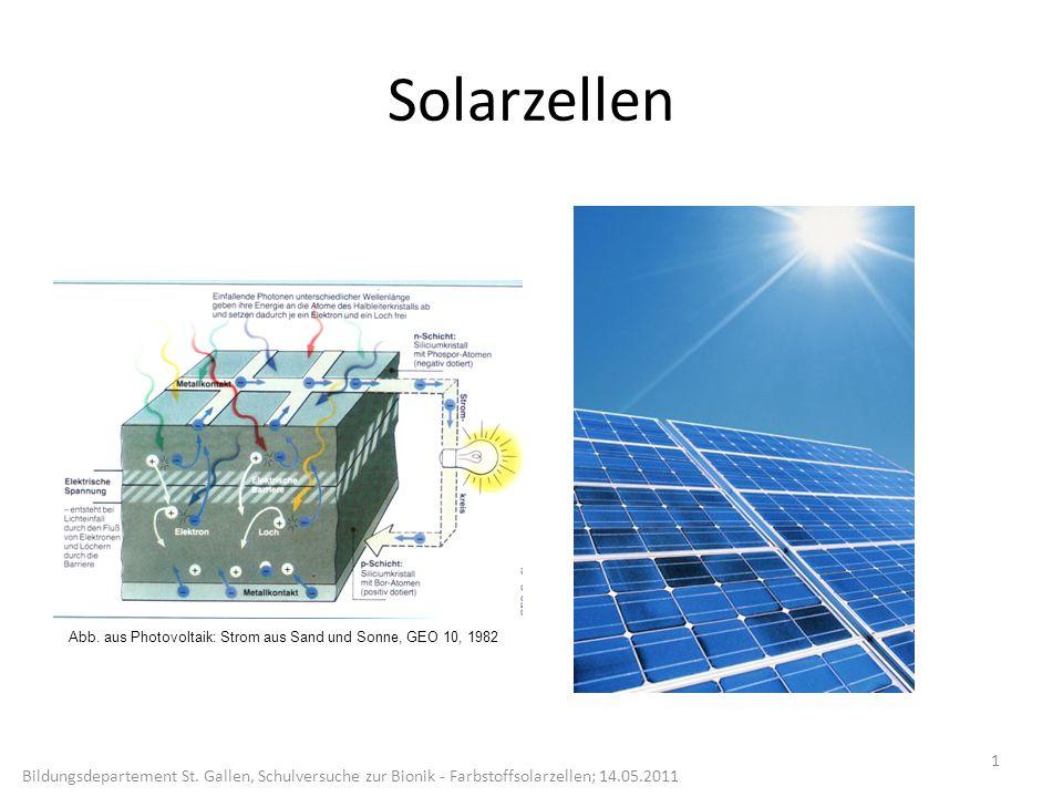 Solarzellen 1 Bildungsdepartement St.