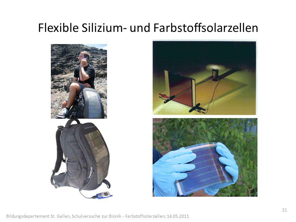 Flexible Silizium- und Farbstoffsolarzellen 11 Bildungsdepartement St.