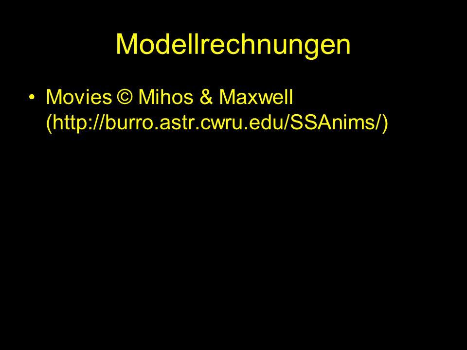 Modellrechnungen Movies © Mihos & Maxwell (http://burro.astr.cwru.edu/SSAnims/)
