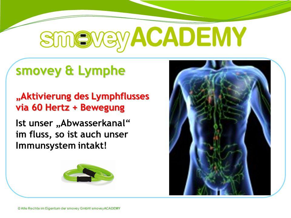 "© Alle Rechte im Eigentum der smovey GmbH/ smoveyACADEMY smovey & Lymphe ""Aktivierung des Lymphflusses via 60 Hertz + Bewegung Ist unser ""Abwasserkana"