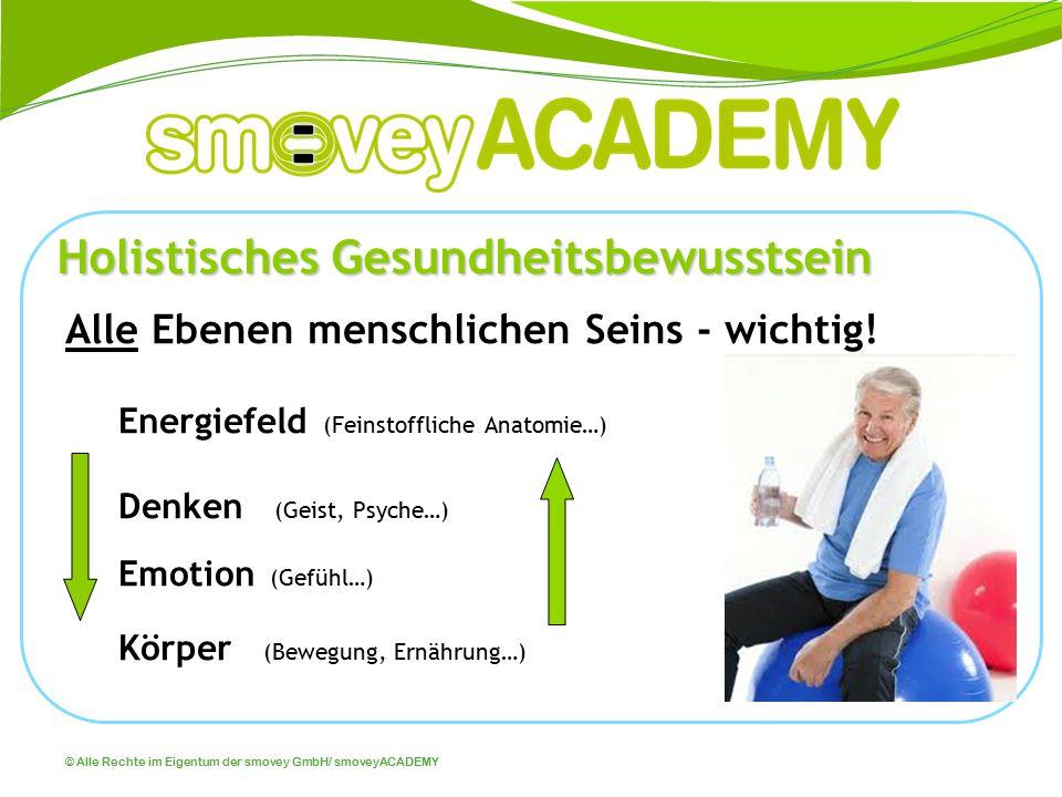 © Alle Rechte im Eigentum der smovey GmbH/ smoveyACADEMY Holistisches Gesundheitsbewusstsein Alle Ebenen menschlichen Seins - wichtig! Energiefeld (Fe