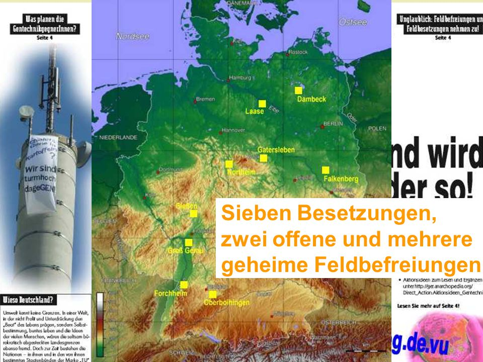 Dann … Feldbesetzungen! 2007: Sagerheide/Groß Lüsewitz
