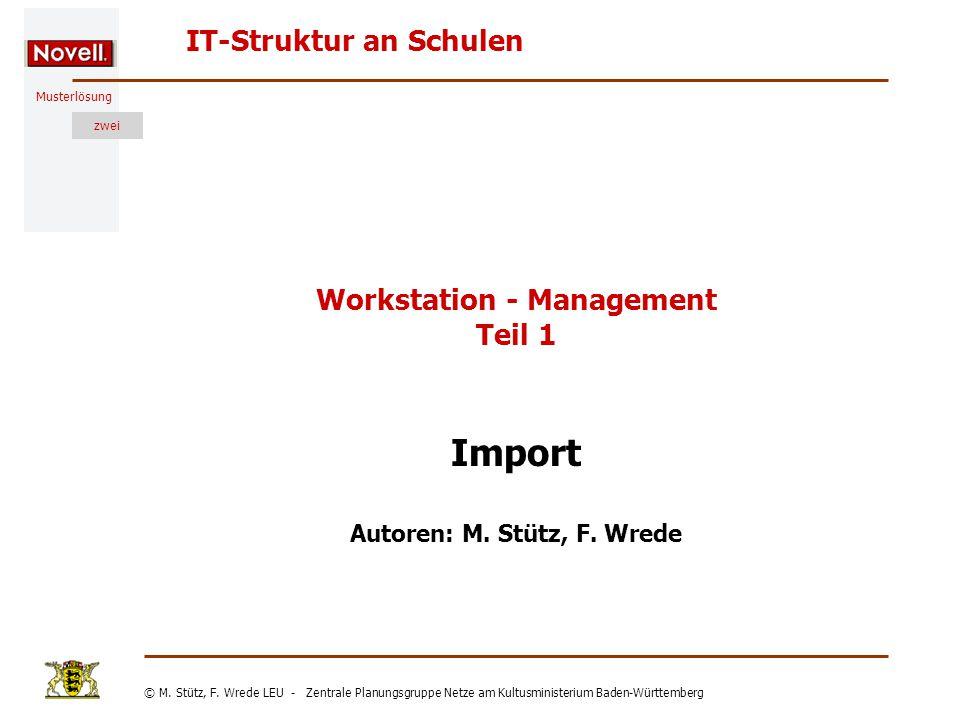Musterlösung IT-Struktur an Schulen © M. Stütz, F.