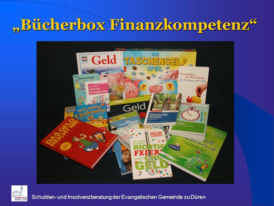 """Schulden- und Insolvenzberatung der Evangelischen Gemeinde zu Düren """"Bücherbox Finanzkompetenz"""""""