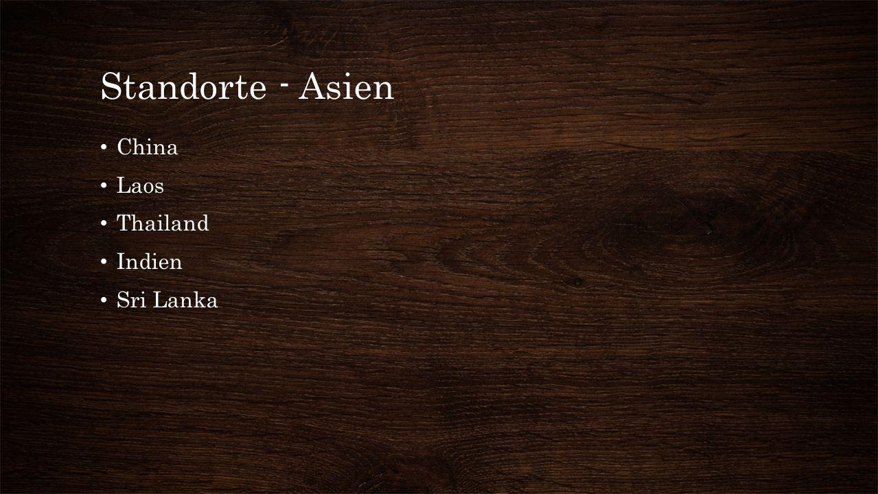 Standorte - Asien China Laos Thailand Indien Sri Lanka