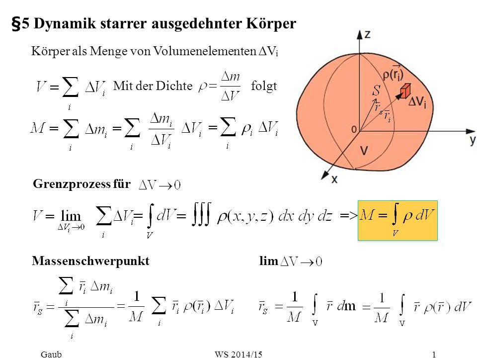 Beispiel: Spkt Homogene Halbkugel OBdA MP in O z' z y x r dV Gaub2WS 2014/15