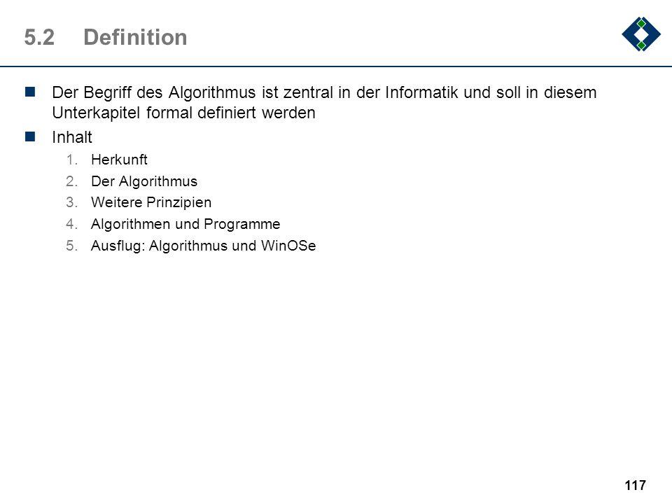 116 5.1.8Ein weiterer Algorithmus