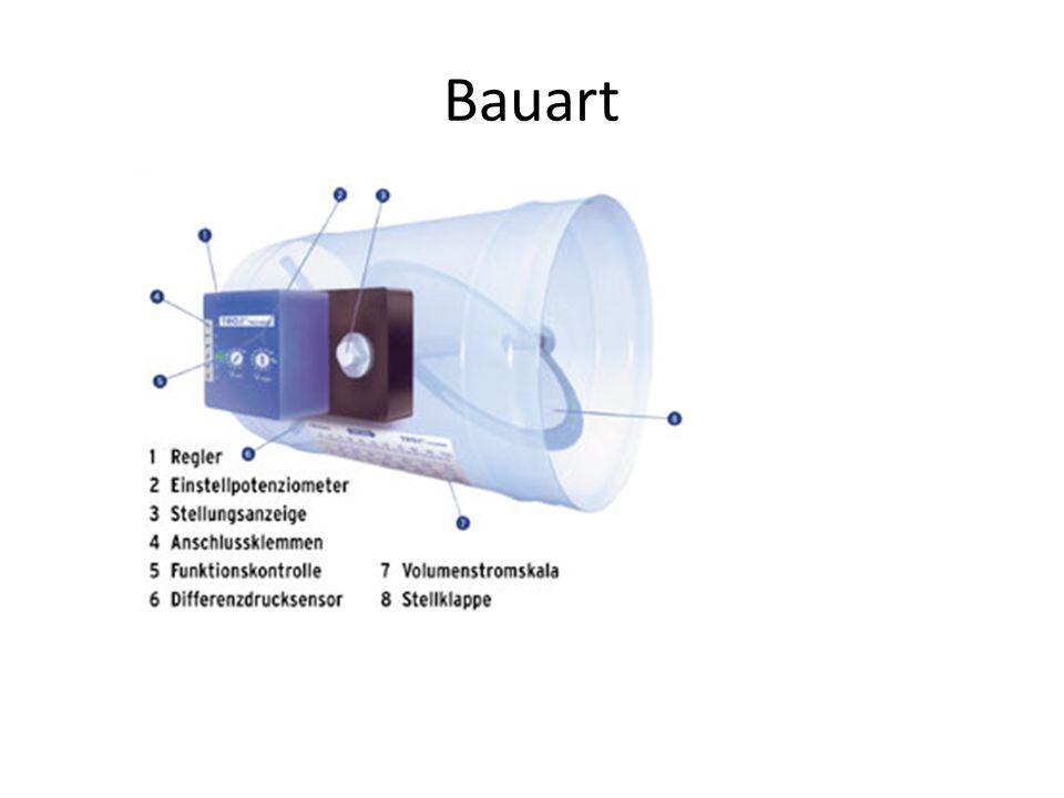 Auslegung Wichtig ist die Einhaltung der Vordrücke, um ein Überströmen von Warmluft in die Kaltluftleitung oder umgekehrt zu vermeiden.