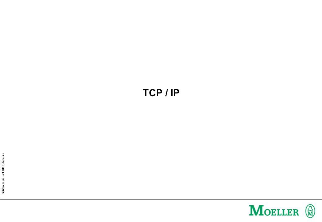 Schutzvermerk nach DIN 34 beachten TCP / IP