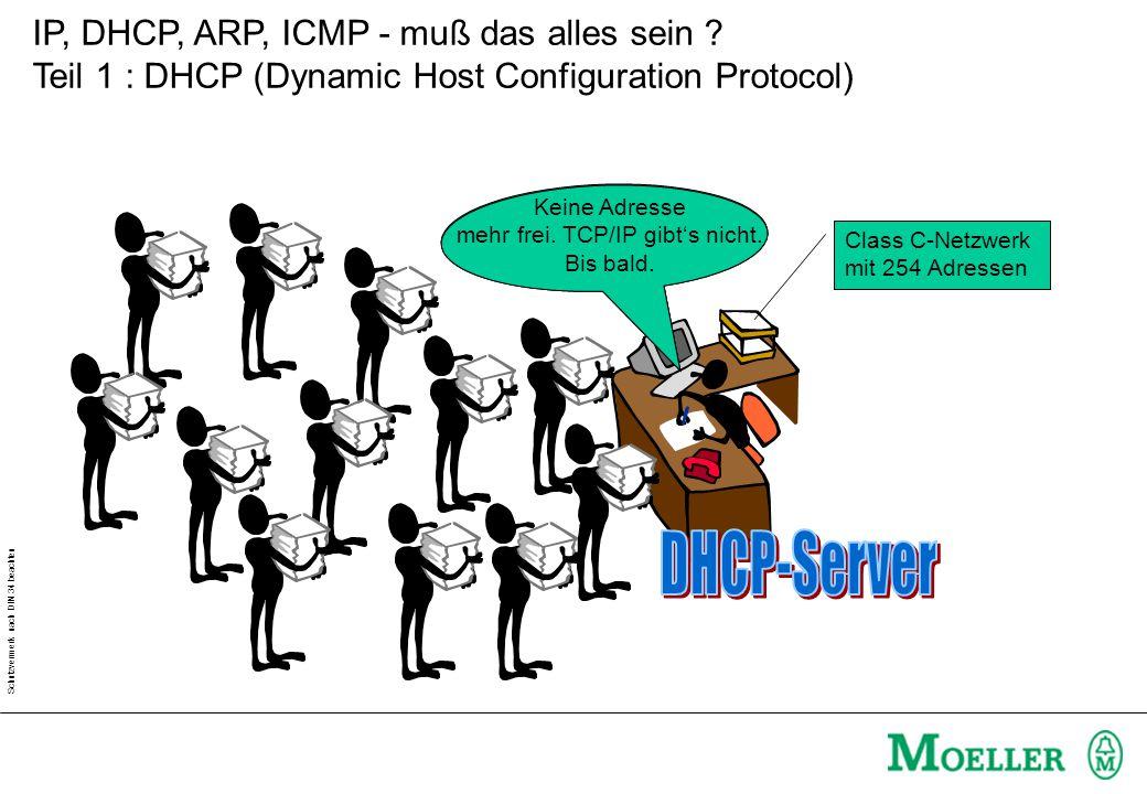 Schutzvermerk nach DIN 34 beachten IP, DHCP, ARP, ICMP - muß das alles sein .