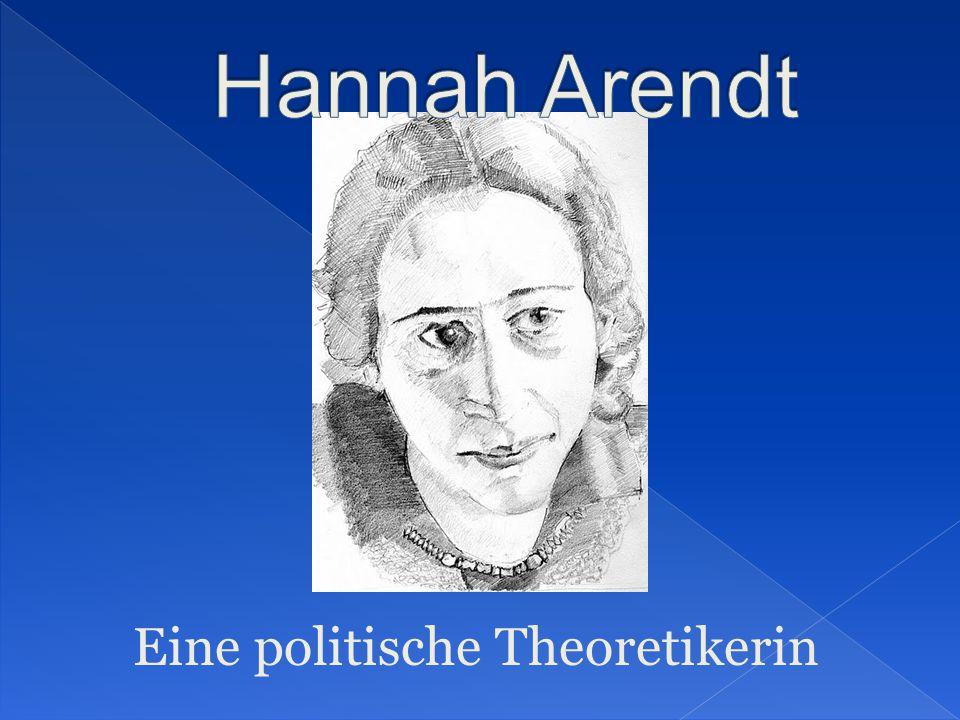 Eine politische Theoretikerin