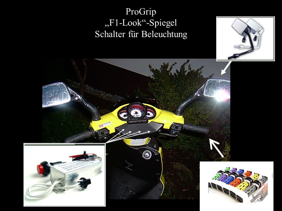 """ProGrip """"F1-Look""""-Spiegel Schalter für Beleuchtung"""