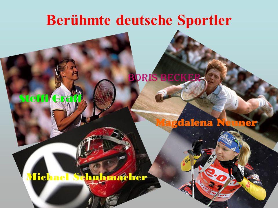 Berühmte deutsche Sportler Steffi Graff Boris Becker Michael Schuhmacher Magdalena Neuner