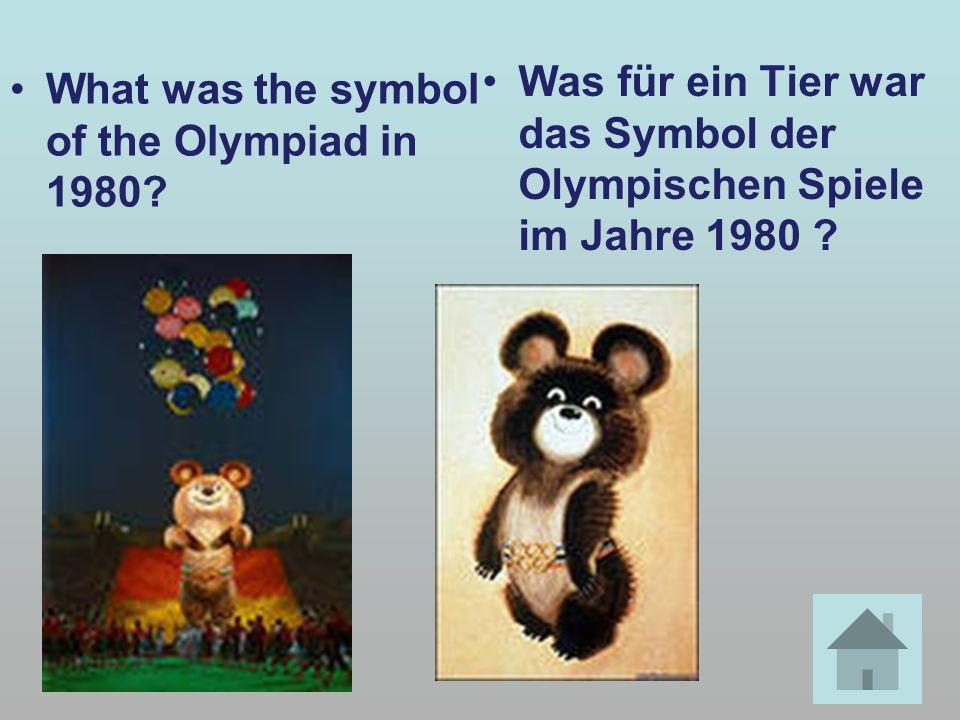 What was the symbol of the Olympiad in 1980? Was für ein Tier war das Symbol der Olympischen Spiele im Jahre 1980 ?