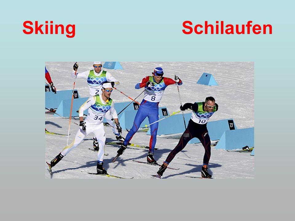 Skiing Schilaufen