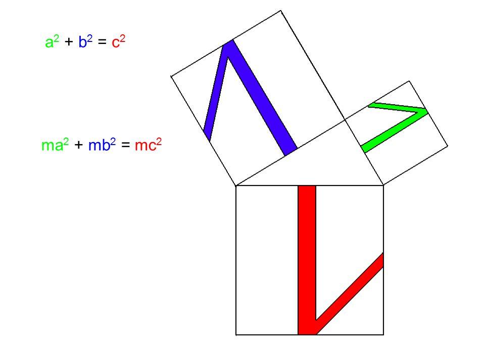 ma 2 + mb 2 = mc 2 a 2 + b 2 = c 2