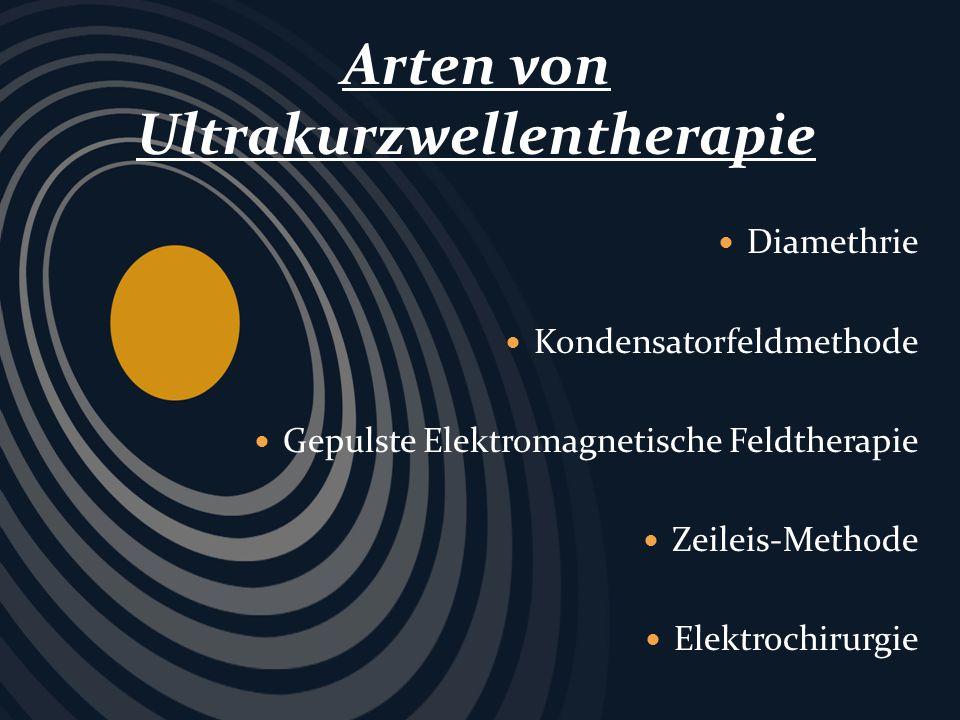 Hochfrequenzthermotherapie elektrotherapeutische Methode Tiefe Muskulatur Entfernung von Tätovierungen Diamethrie