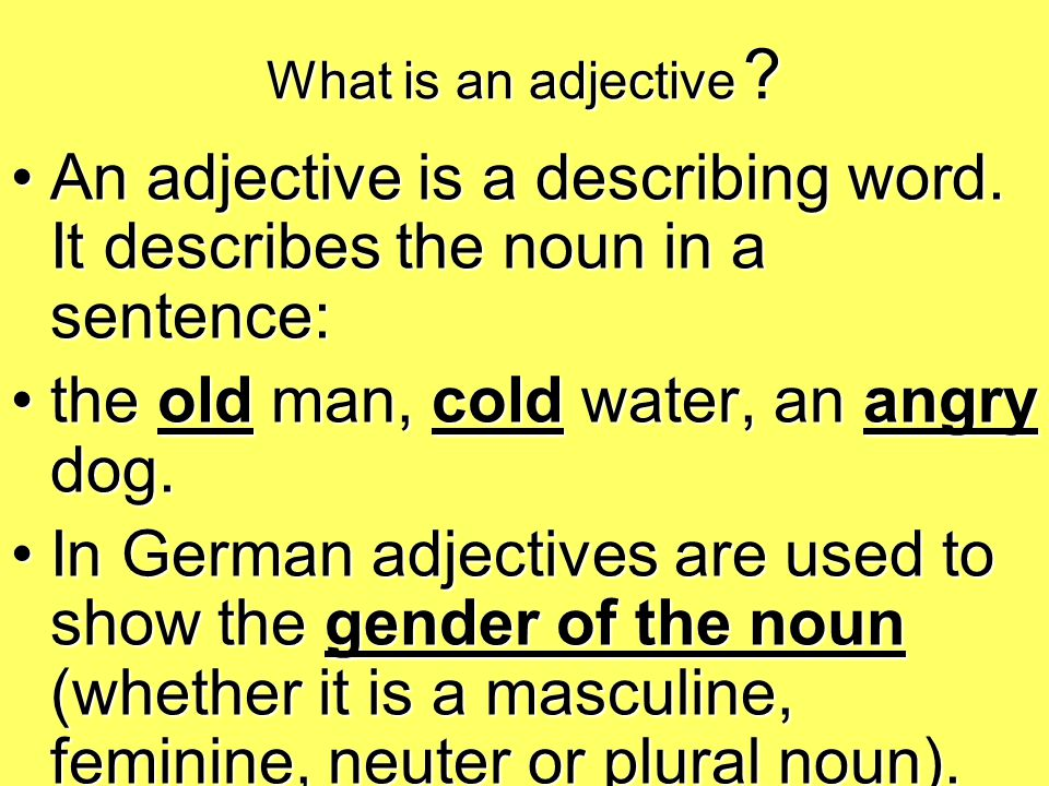 Indefinite articles and adjective endings Indefinite article = ein, eine, einem, einer etc.