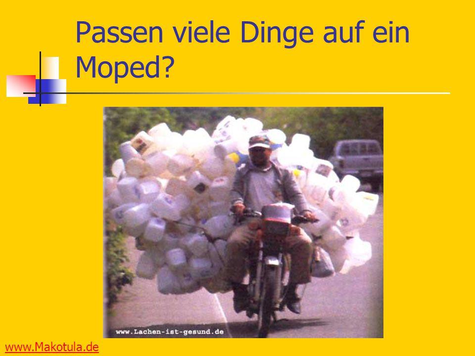 www.Makotula.de Passen viele Dinge auf ein Moped?