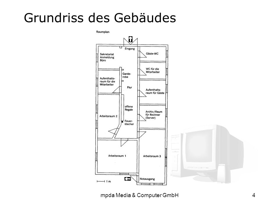 mpda Media & Computer GmbH4 Grundriss des Gebäudes