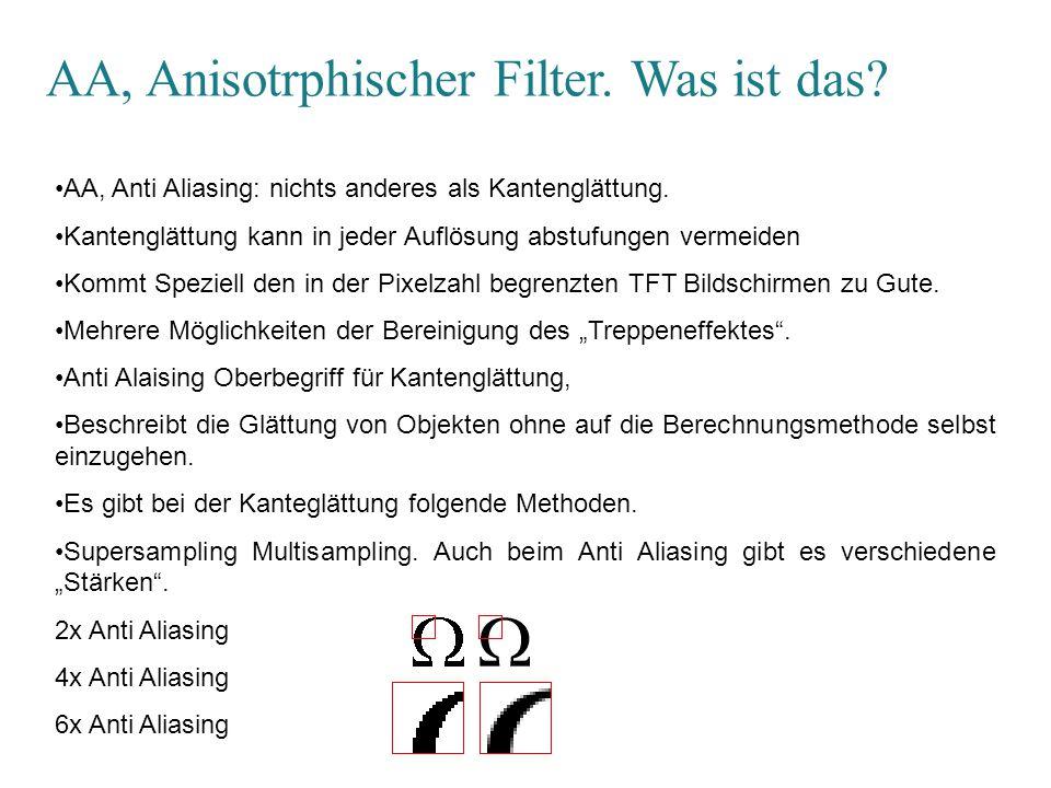 AA, Anisotrphischer Filter.Was ist das.