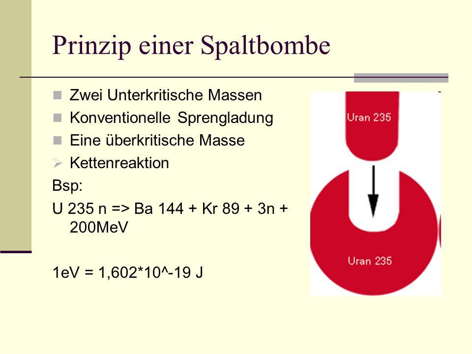 Bezugspunkte 2,8*10^10 kJ / kg Uran Entspricht 828000 Liter Benzin oder 224 Erdumrundungen in einem PKW