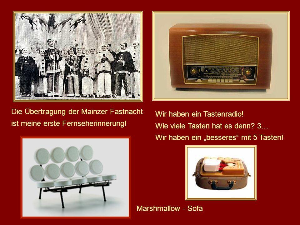 Das Testbild war das, was von den ersten TV-Geräten flimmerte! Es gab nur ein paar Stunden Sendezeit!