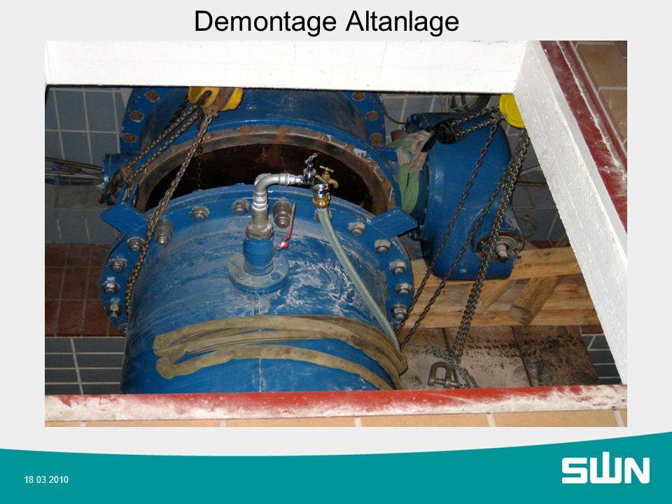 18.03.2010 Demontage Altanlage