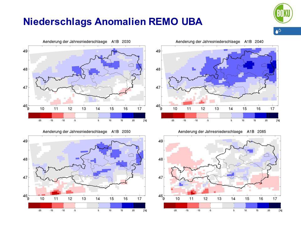 Niederschlags Anomalien REMO UBA