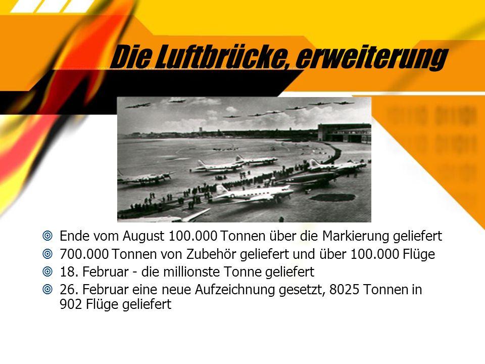 Das Ende der Blockade  4.