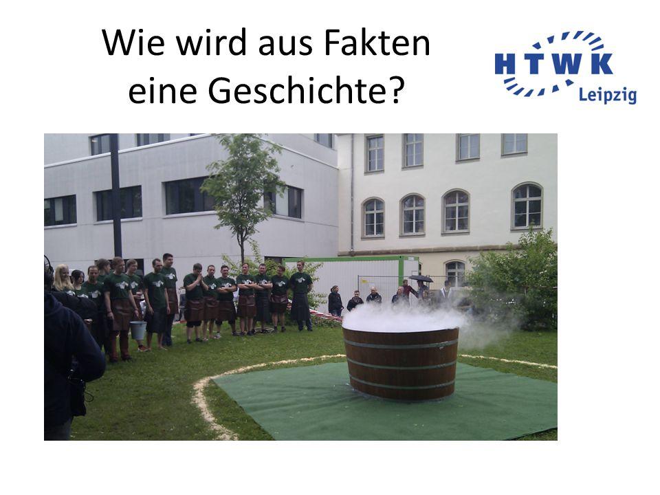 Wie erzählen.Am 29. Mai 2013 fand an der HTWK Leipzig das traditionelle Gautschfest statt.